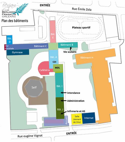 Plan du lycée